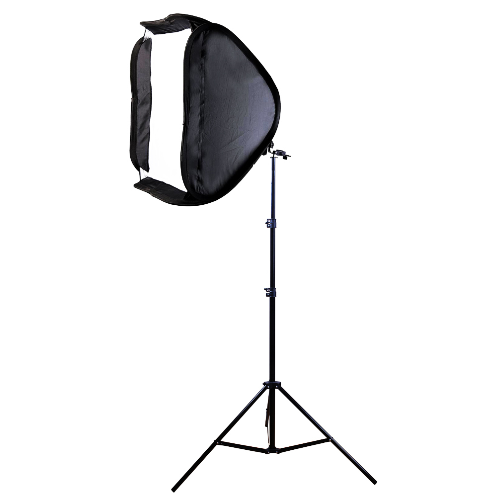 80x80cm Softbox Bag Kit for Camera Studio Flash fit Bowens Elinchrom Mount With Stand купить