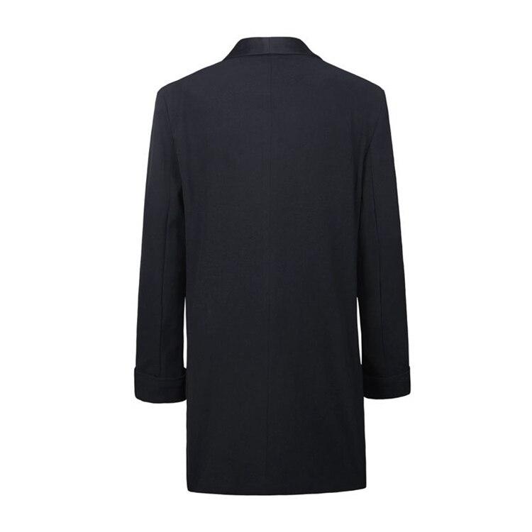 Long Blazer Suit Jacket Women Fashion Long Sleeve Coat Women Elegant Double Breasted Jacket Suits Female Lady Plus Size 4XL 5XL