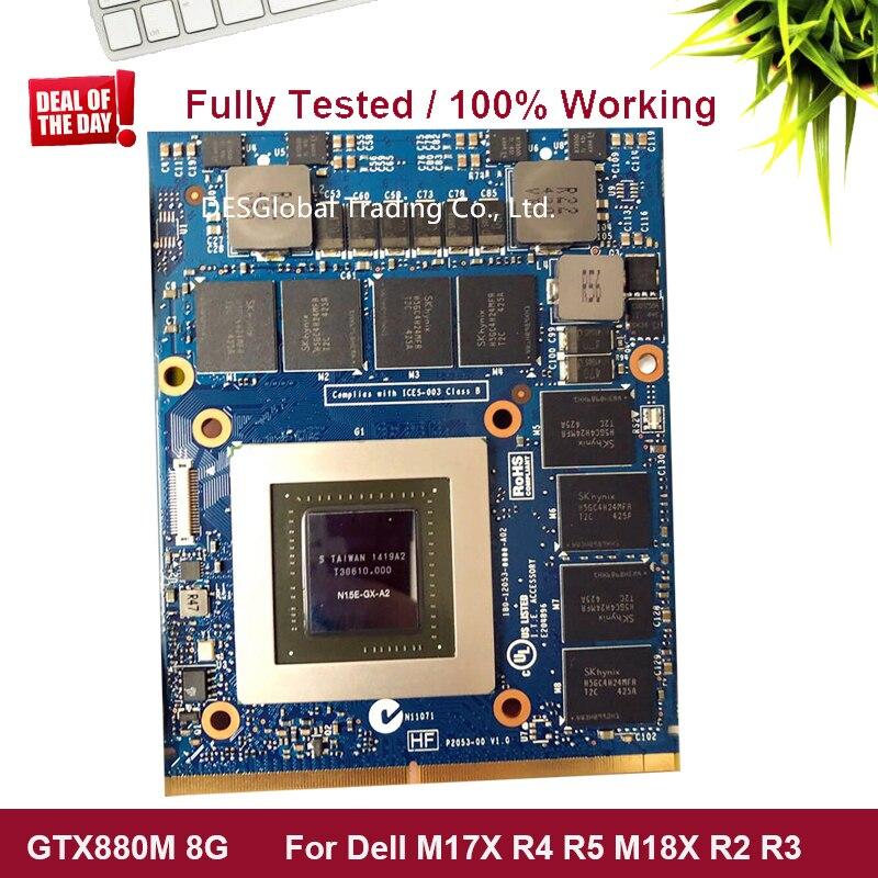 וידאו כרטיס גרפי GTX880M GTX 880M 8GB GDDR5 וידאו VGA כרטיס גרפי וידאו CardFor DELL M17x R4 R5 M18X R2 R3 100% עובדים במשרה מלאה נבדק (1)