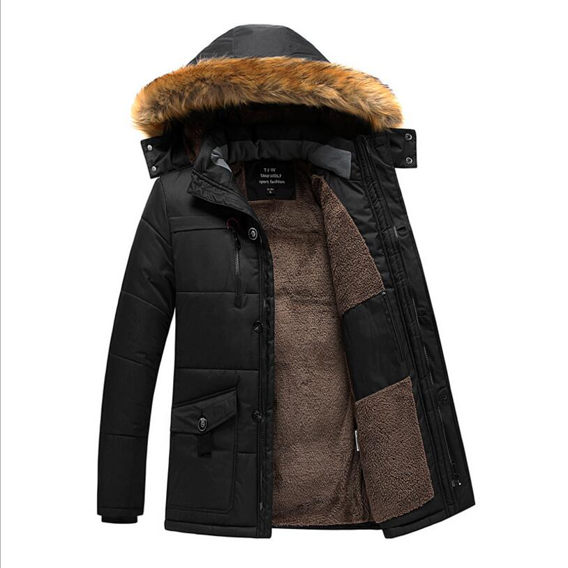 New Winter Jackets Men Hooded Casual Long Coats Down Jackets Warm   Parkas   Large Size Men Winter Coat and Jackets Size 8XL