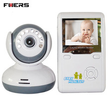 Fuers 2.4″ TFT Digital Wireless Baby Video Monitor One Camera IR Night Vision Voice Intercom Electronic Babysitter Two-way talk