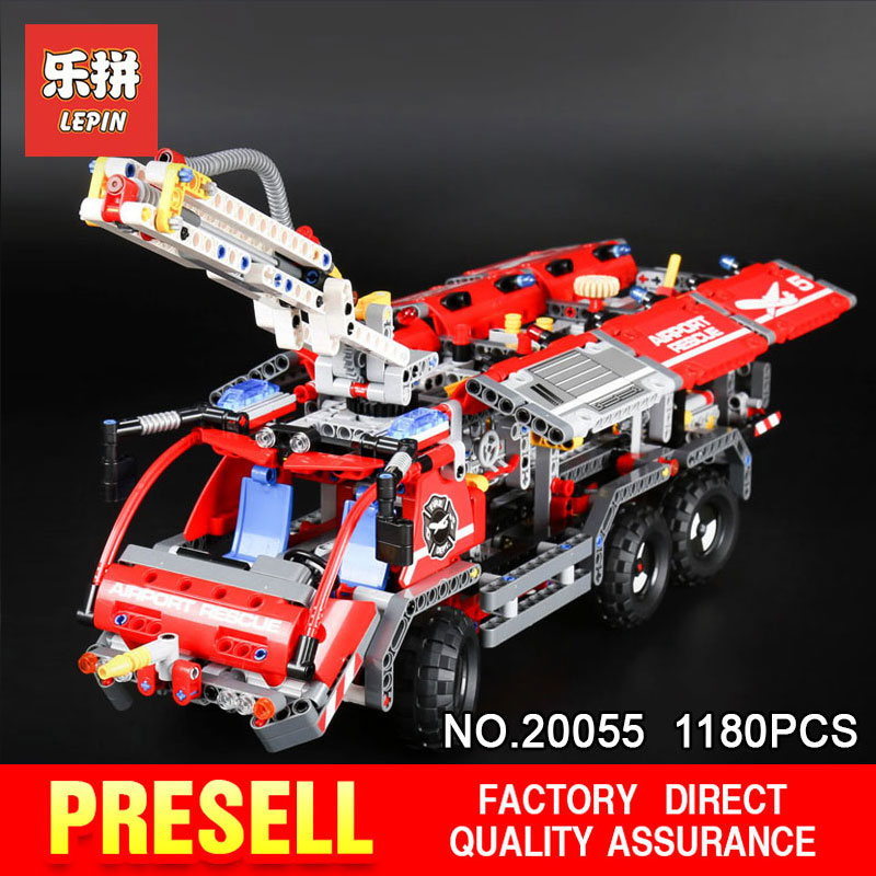 Lepin 20055 1180Pcs Genuine Mechanical Series The Rescue Vehicle Set Children Educational Building Blocks Bricks Toys Gift 42068 lepin 02020 965pcs city series the new police station set children educational building blocks bricks toys model for gift 60141