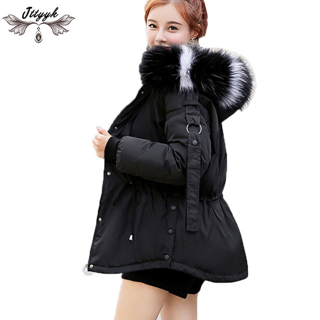 professional yet not vulgar world-wide free shipping US $45.84 |Plus size Parkas 2018 New Winter jacket Women Hooded Winter coat  Women Loose Fur Collar Short Womens Coats And Down Jackets L590-in Parkas  ...