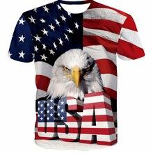 2018 New USA Flag T shirt Men Women Sexy 3d Tshirt Print Striped American Flag Men