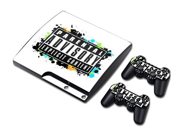 For PS3 Slim Skin Sticker Promotion Gift from Manufacturer!Customized own designs Available! Free Shipping