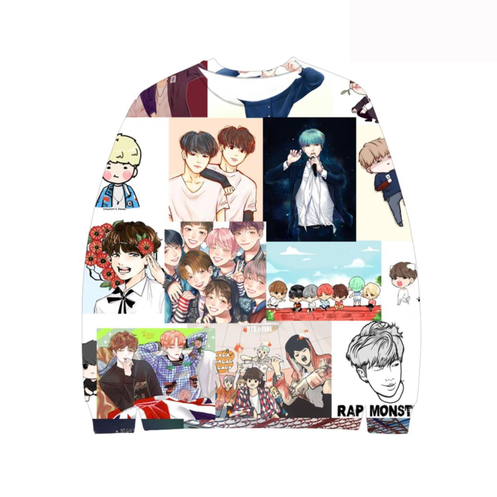 Good Style Fashion Printing Design BTS Kpop 3D Capless Hoodies Men Women Sweatshirts Casual Brand Hoodie Clothes