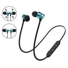 Tênis de corrida Leve Fone de Ouvido Estéreo Fone de ouvido Fones de Ouvido sem fio Magnético Bluetooth Fones De Ouvido com Microfone para o telefone PC
