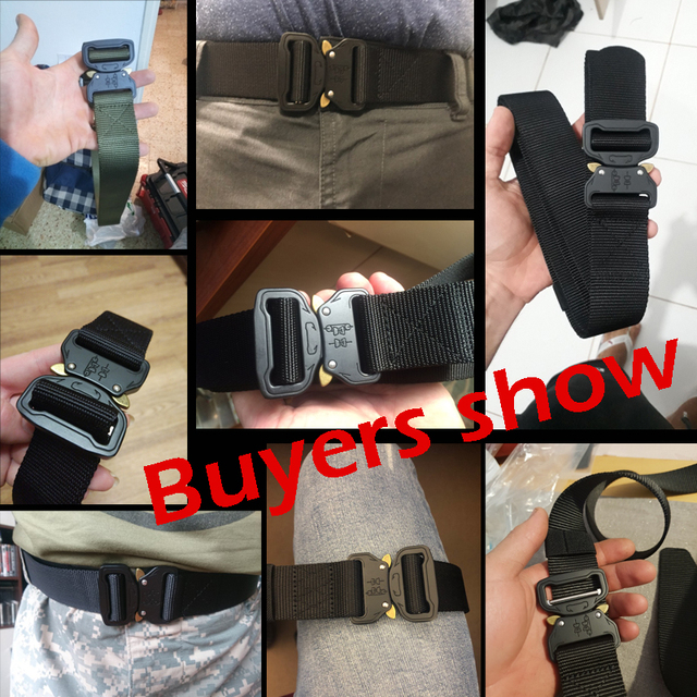 New Nylon Molle Military SWAT Combat Knock Off Emergency Survival Belt Tactical Gear 5