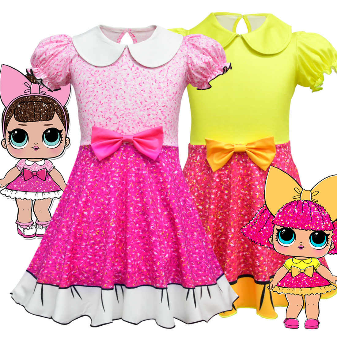 095c9cde89 3-10Y Baby Dresses 2018 Summer cosplay Dress Kids Party Christmas Costumes  Children Clothes Princess