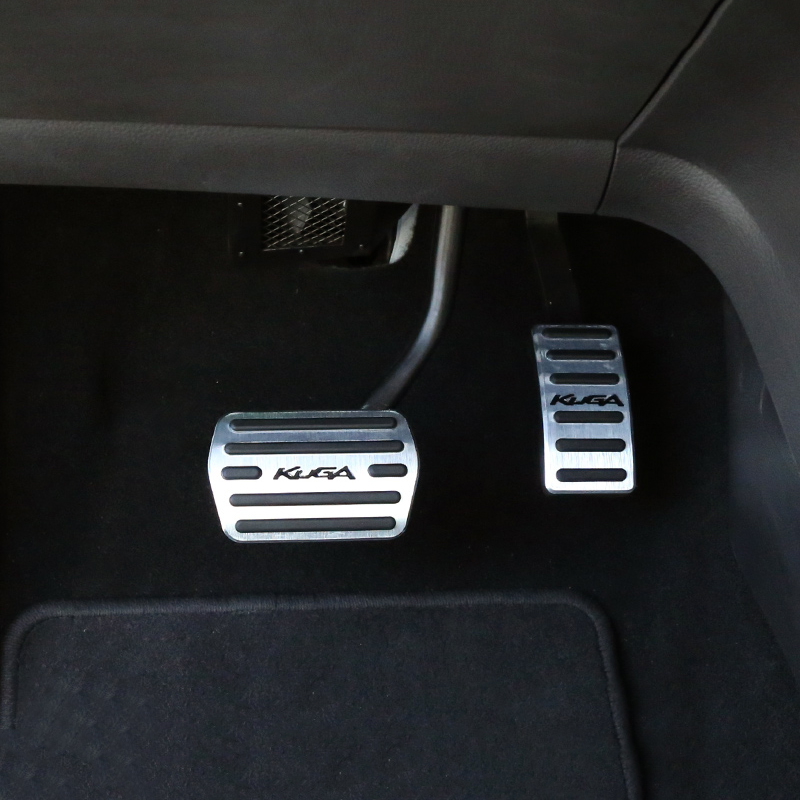 Image 5 - Aluminum alloy Car Accelerator Gas Pedal Brake Pedal Non Slip Pedal Pads Cover AT For Ford Kuga Escape 2013 2014 2015 2016 2017-in Pedals from Automobiles & Motorcycles