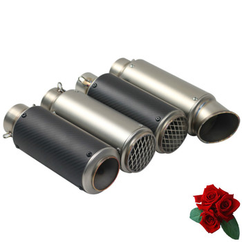 Silenciador de tubo de Escape para motocicleta, tubo de Escape para Kawasaki ER6N NINJA Honda CRF 230 FZ6 MSX 125 FZ1 SC031 Z750