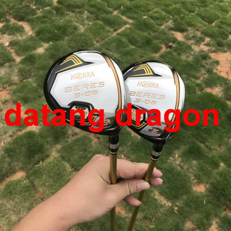 datang dragon golf woods HONMA S-06 3 star fairway woods 3#5#with graphite golf shaft headcover golf clubs woods s new york dead