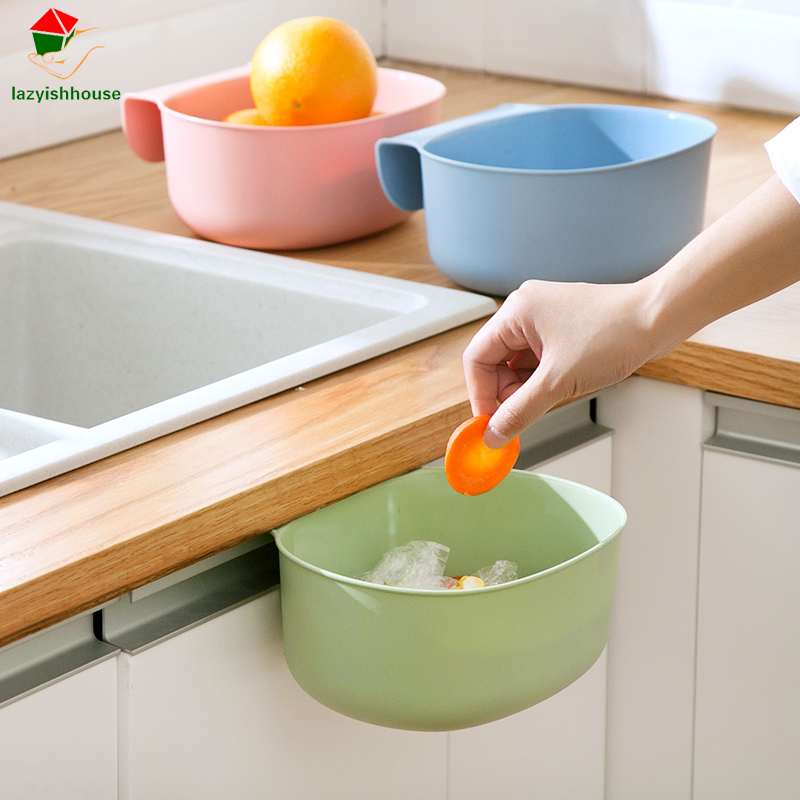 Hanging Multifunctional Household Kitchen Cupboard Waste Bin Desktop Storage Barrel Tras ...