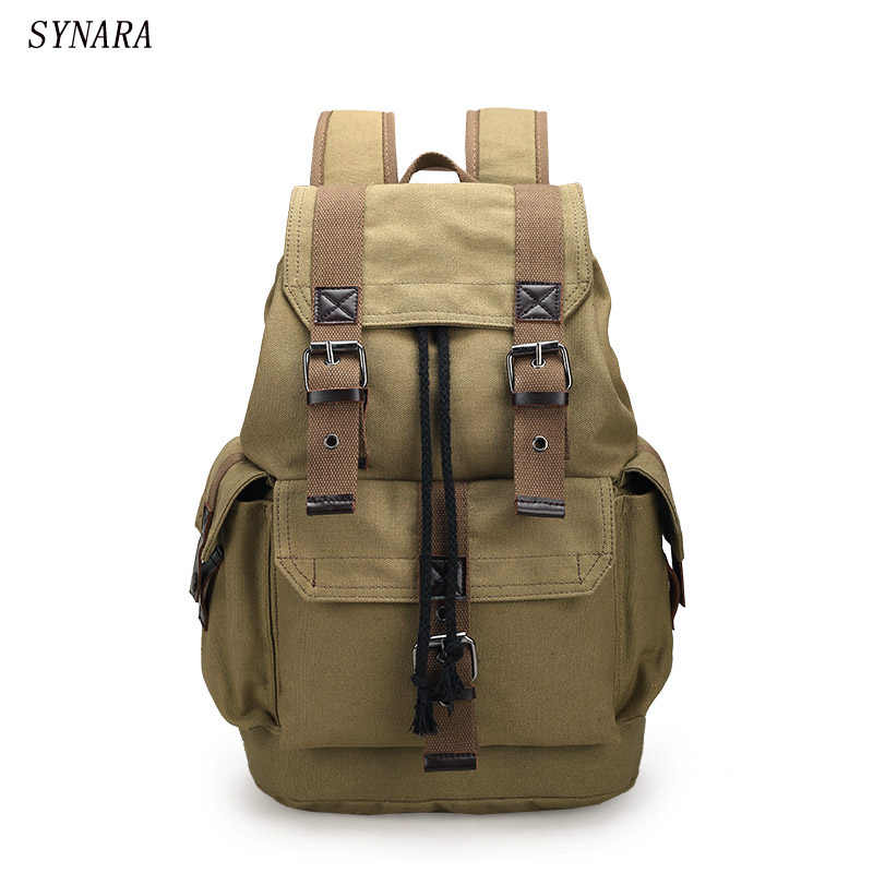 b4619b3fb367 New fashion men s backpack vintage canvas backpack school bag men s travel bags  large capacity travel backpack