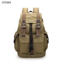 New fashion men's backpack vintage canvas backpack school bag men/Women travel bags large capacity travel backpack bag