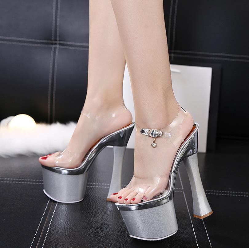 Zapatos Rctshdqx Ultra Alto Claro Sandalias Inferior Baile Club Mujeres 0X8PwOkn