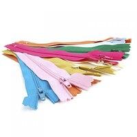 Лот из 100 шт нейлоновые застежки-молнии 7 дюймов ремесло шитье (разноцветный)