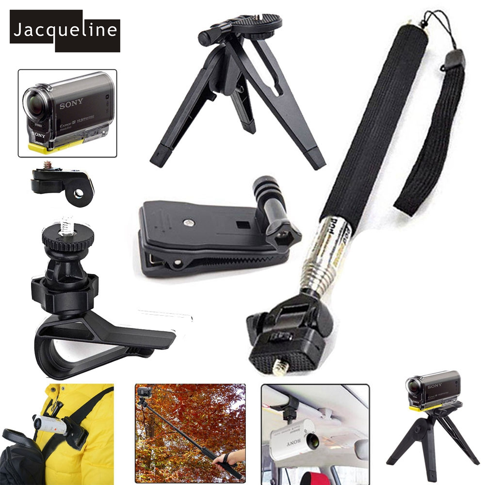 Jacqueline for Kit Outdoor Sports Accessories Mount Bundle For Sony Action Cam HDR AS20 AS15 AS100V AS200V AS30V AZ1 FDR-X1000V