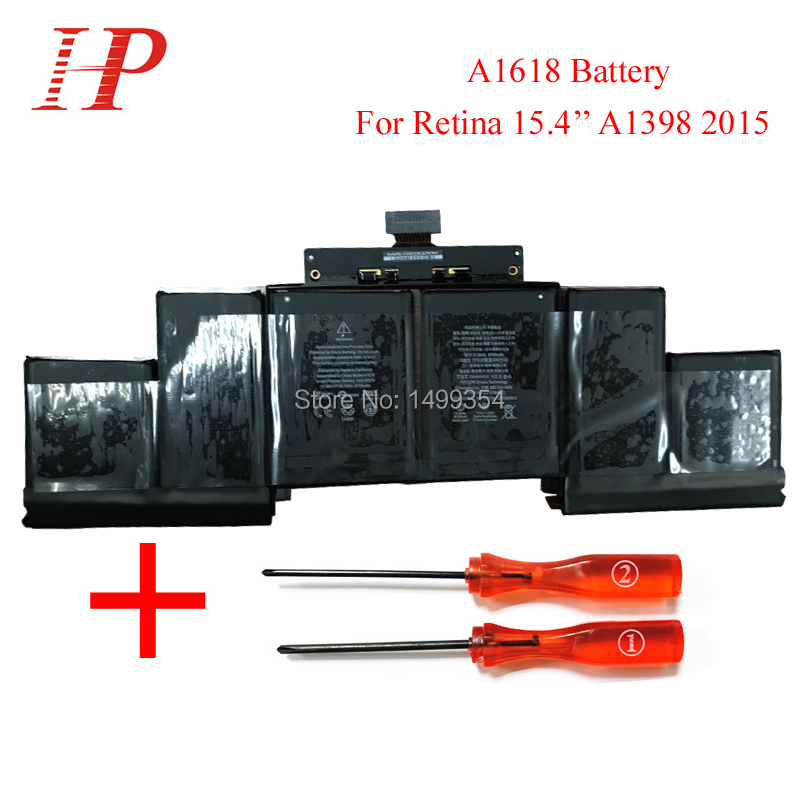 ФОТО Original New Qaulity A1618 Battery For Macbook  Pro Retina 15'' A1398 Battery 2015 With Screwdriver 11.36V 8557mAh