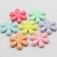 21mm Akrilik Boncuk Diş Çıkarma Kolye Takı için Snown Çiçek Boncuk 500 g/paket, takı Aksesuarları, çocuk El Yapımı DIY Boncuk