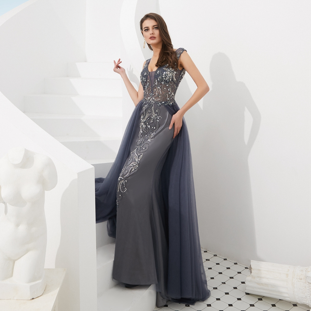 shop Luxury Mermaid Prom Dress Beading Crystal Evening Gown