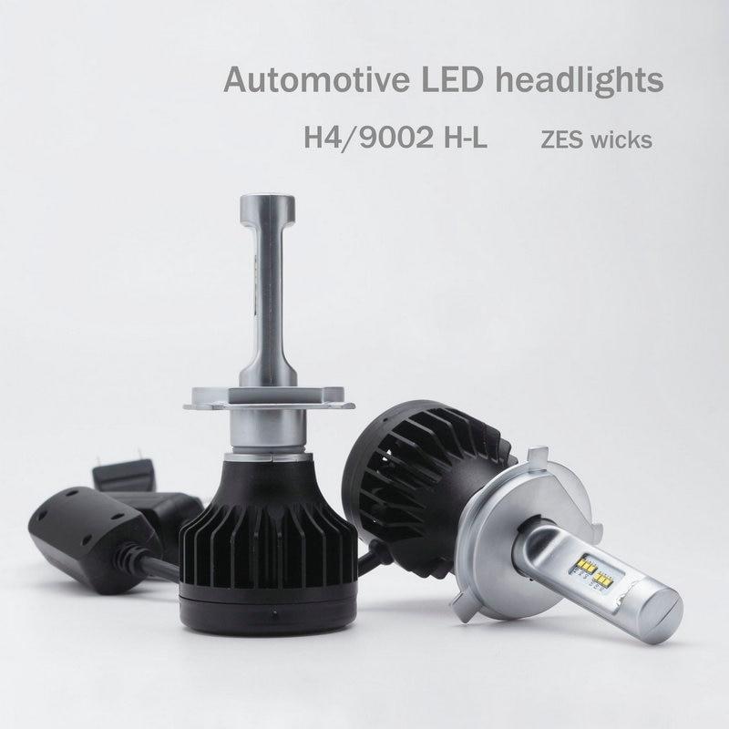 2018 External Lights Lights New Design H4 Led Headlight Cars High 70w/ Low 48w Beam Light Kit Lamp Car-styling Bulbs For