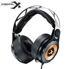 Xiberia t18ステレオゲーミングヘッドフォンイヤホン付きマイク7.1サラウンドサウンド深い低音ゲーマーヘッドセット用コンピュータ最高のcasque