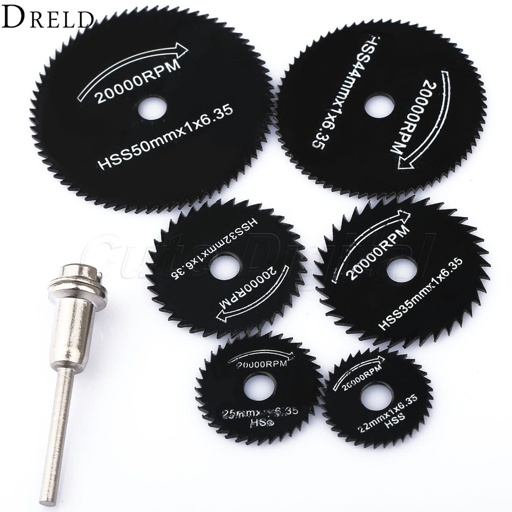 6pcs Dremel Accessories Hss Mini Circular Saw Blades