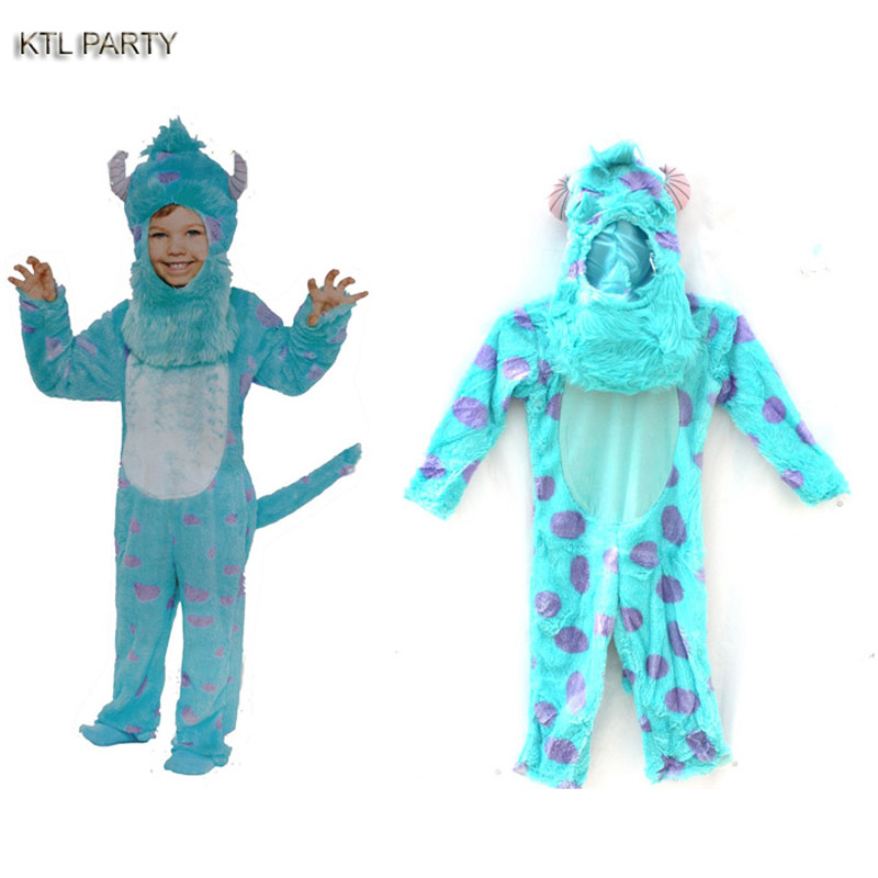 monster university Sulley Sullivan onesies Pajamas Cartoon costume cosplay children Animal Onesies party dress pijamas head mask