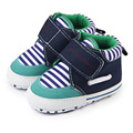 Spring Autumn Striped Casual Comfortable Cotton Infant Newborn Baby Boy Shoes 0-12 Months