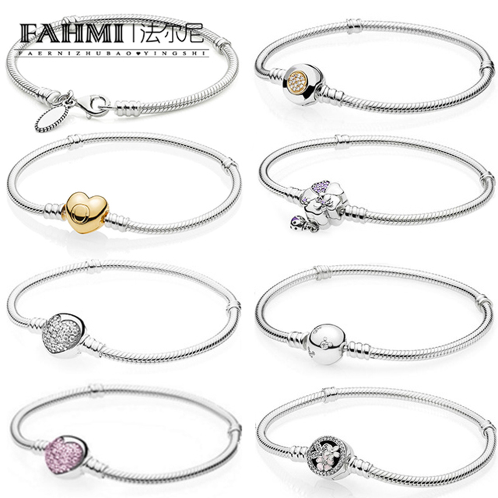 FAHMI 100% 925 Sterling Silver Shine MOMENTS Two-Tone Signature SPARKLING HEART Pink POETIC BLOOMS WILDFLOWER MEADOW BraceletFAHMI 100% 925 Sterling Silver Shine MOMENTS Two-Tone Signature SPARKLING HEART Pink POETIC BLOOMS WILDFLOWER MEADOW Bracelet