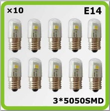 120V 220V 230V E14 0.5W 3*5050SMD mini led bulbs bombilla LED corn light blanco para freezer refrigerator sewing machine