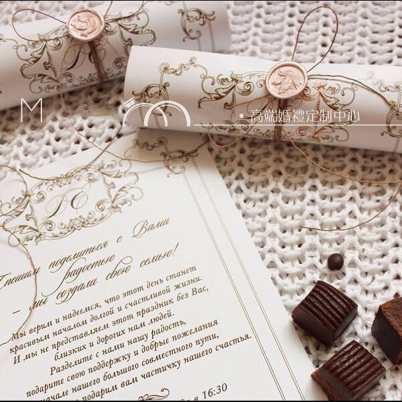 Rolled Wedding Invitations: 100Pcs /Lot Customized Personalized Creative Roll Box