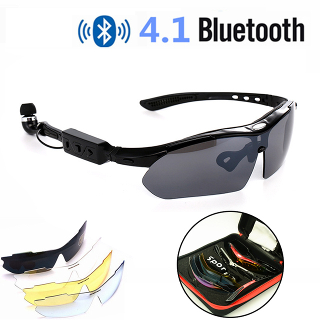 08f1e6764008 Smart Wireless Cycling Glasses Bluetooth 4.1 Wearable Hands-free Phone  Bicycle UV400 Polarized Sunglasses Replace