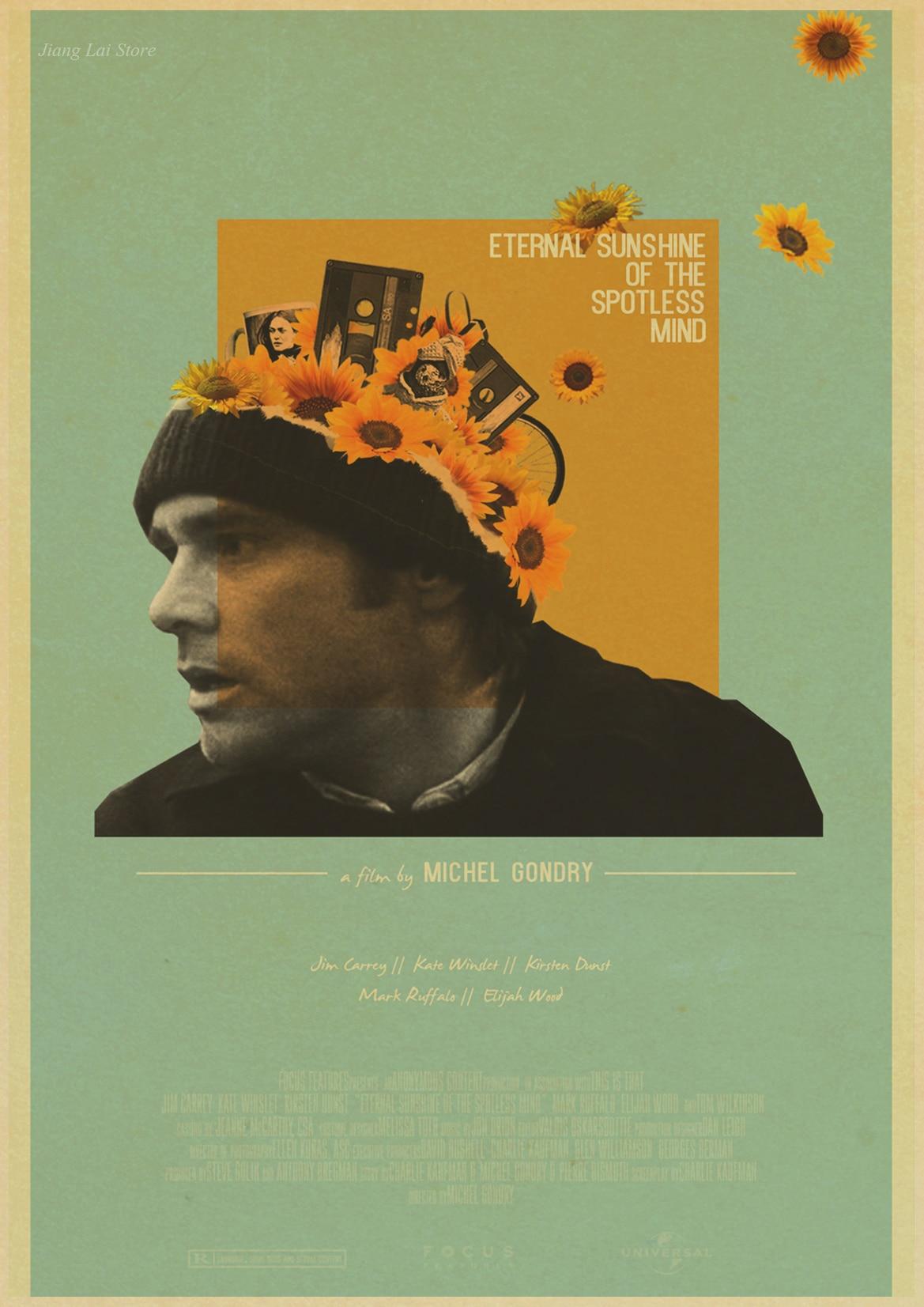 Eternal Sunshine Of The Spotless Mind Jim Carrey Movie Retro Poster