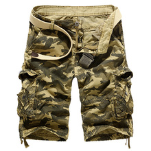 Camouflage Camo Cargo Shorts Men 2019 New Mens Casual Male Loose Work Man Military Short Pants Gym Clothing Khaki