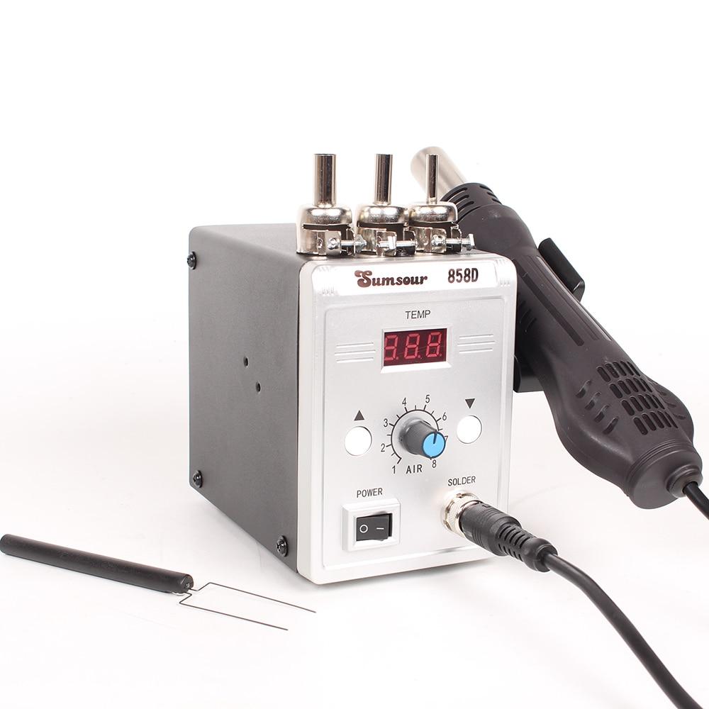 Image 4 - Soldering Heat Gun 858D 700W  Digital Display BGA Rework Solder Station Hot Air Blower Gun-in Heat Guns from Tools on