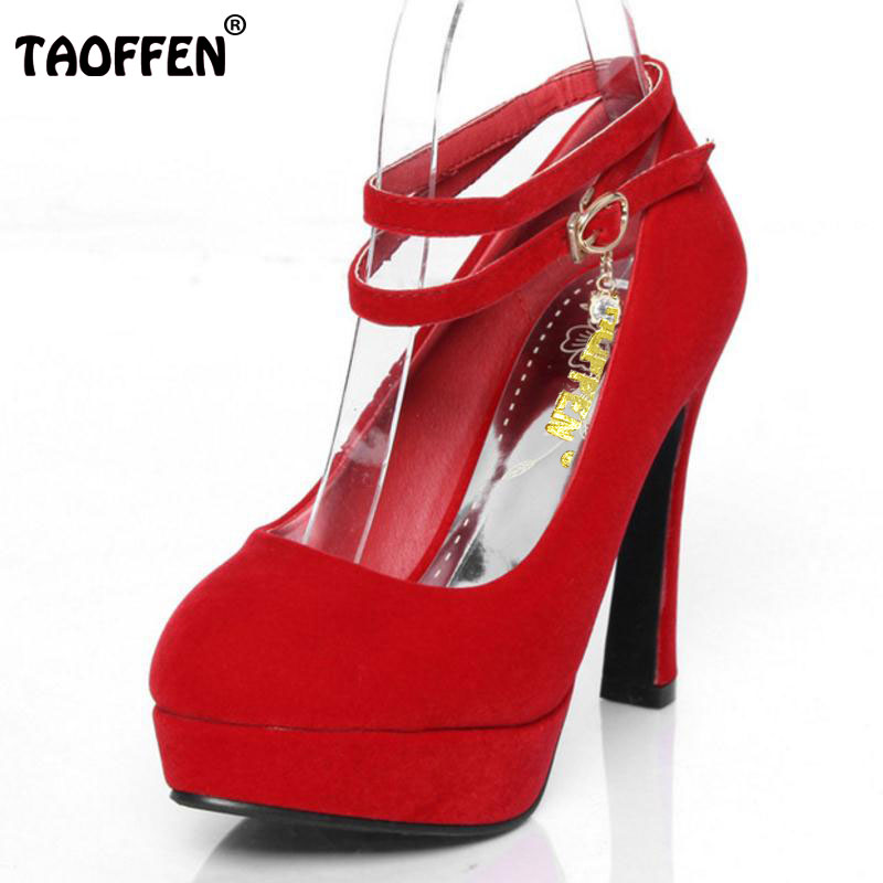 TAOFFFEN High-heeled shoes small yards 31 womens 32 single shoes 33 plus size wedding 40 - 43 red bridal work shoes ...