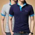 2016 male short-sleeve Polo shirt slim 100% men's cotton clothing summer turn-down collar polo shirt