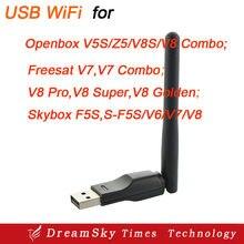 5 unids/lote 150 M WiFi USB con Antena para Openbox/Alphabox/Eyebox X3, X5, X6, Q3, Q5, Q6, S-caja F3, Receptores de Satélite M3