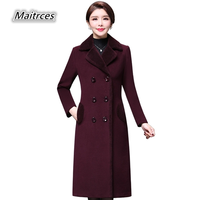 ffe5a975d15c Winter Thicken Warm Women Woolen Coat 2018 New Wool female coats ...