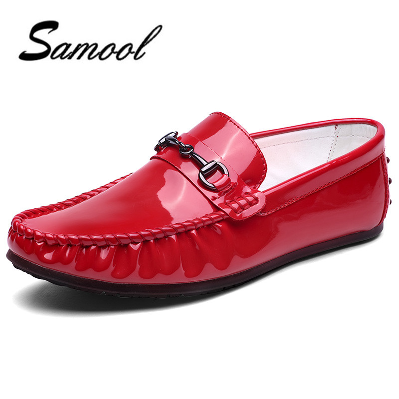 Men Loafers Patent Leather Slip-on Causal Shoes Men's Flats Soft Moccasins Fashion Leisure Driving Shoes wedding dress shoes ly5 2017 men shoes fashion genuine leather oxfords shoes men s flats lace up men dress shoes spring autumn hombre wedding sapatos