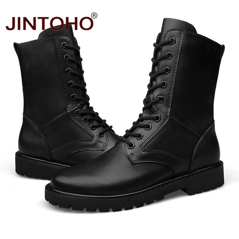 Without Couro Zapatos Genuíno Sapatos Se Homens Militar Bota Botas Fur Jintoho hei Tacticos Tamanho Grande With Deserto Inverno De Hei Fur wpqWaI7