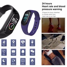 2019 New M4 Waterproof Sports Watch Smart Bracelet Heart Rate Activity Blood Pressure Fashion sports smart watch Bracelet hot(China)