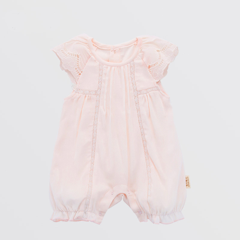 Tiny Baby Girl Boy Short Sleeve Rompers Infant Summer Cotton Romper Newborn Casual O-neck Pink Jumpsuit Clothes bebe Overalls