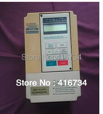 цена на Vfd Frequency inverter second hand TECO SPEECON frequency converter 380v 0.75kw Free Shipping