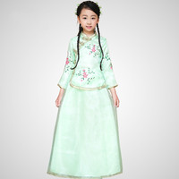 New Arrival Children Chinese Traditional Costume Top Skirt 2 Pcs Girl Chinese Ancient Costume Kids Hanfu