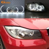 For BMW 3 Series E90 E91 330i 325i 335i 2005 2008 Halogen headlight C Shape Style Ultra bright CCFL Angel Eyes kit halo rings