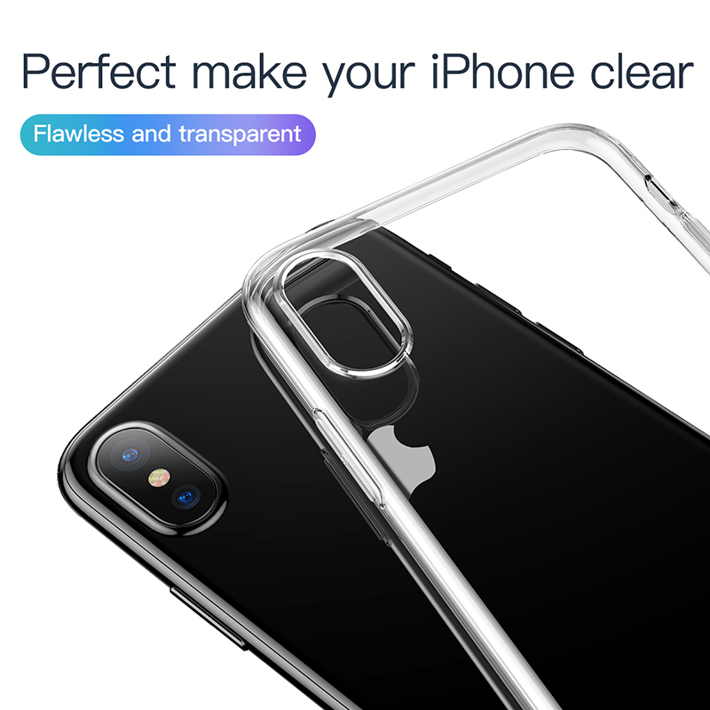 online store 73e3f 29c48 US $2.84 24% OFF|Baseus Ultra Thin Transparent Case For iPhone Xs Xs Max XR  2018 Luxury Soft Silicone Back Cover For iPhone Xs Xs Max Case-in Fitted ...