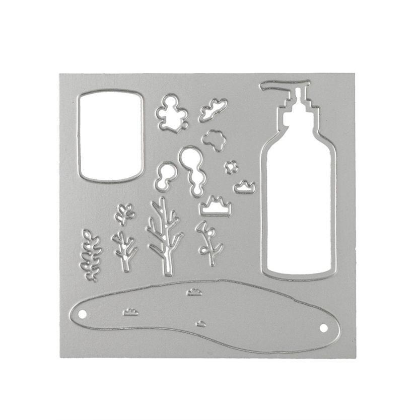 House LC Flower Metal Cutting Dies Stencils DIY Scrapbooking Album Paper Card Crafts 18Apr23 Drop Ship